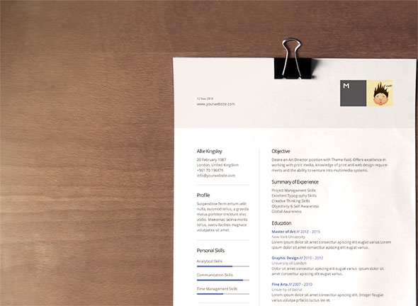 vertical resume template - Creative Resume Templates Free