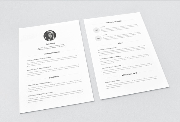 25 best free cv templates psd ai word docx rogue pony free resume template vol 2 psd yelopaper Gallery