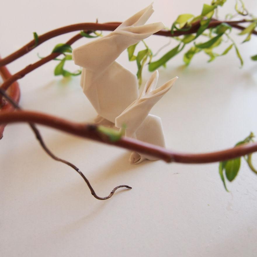 DIY Porcelain Rabbits
