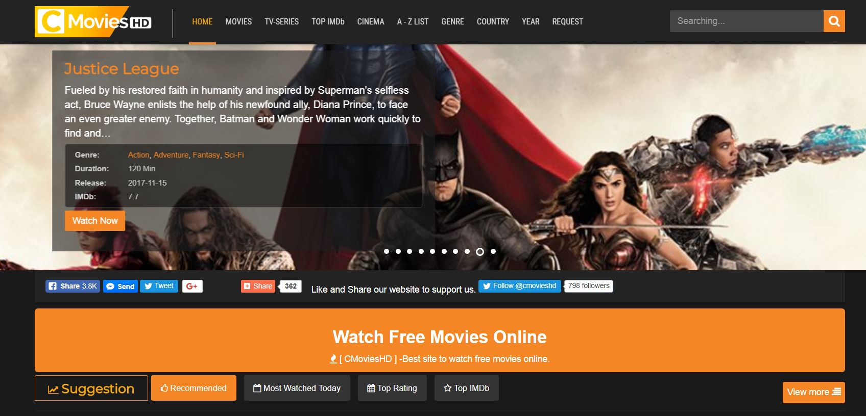 cmovies streaming website